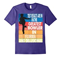 The Greatest Bowler In Florida Bowling Shirts Purple
