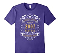 13 Years Old Made In 2007 13th Birthday, Anniversary Gift Shirts Purple