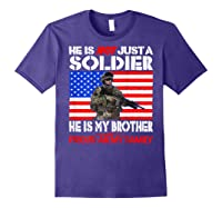 My Brother Is A Soldier Proud Army Family Military Sibling Shirts Purple