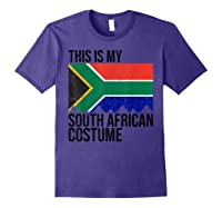 This Is My South African Flag Costume Design For Halloween Shirts Purple