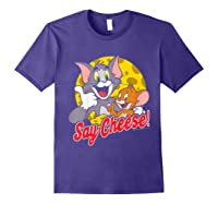 Tom And Jerry Say Cheese Portrait Shirts Purple