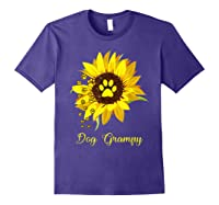 Dog Grampy Sunflower Gift Love Dogs And Flowers T-shirt Purple
