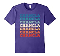 Funny Mexican Mom Gift Chancla T-shirt Purple