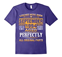 Vintage September 1994 Birthday Gift For 25 Yrs Old D1 Shirts Purple