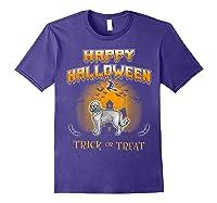 Cockapoo Dog Happy Halloween Shirts Purple