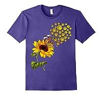 Dog Paw Sunflower You Are My Sunshine T-shirt Purple