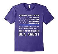 Agent Hero Born As An Officer Thin Blue Line Shirts Purple