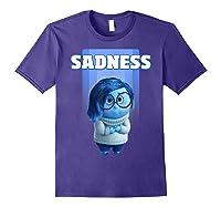 Pixar Inside Out Sadness Portrait Shirts Purple