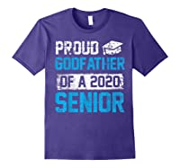 Proud Godfather Of 2020 Graduate Graduation Blue Themed Shirts Purple