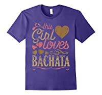 Bachata Latin Dance Gift Dancing Music Shirts Purple