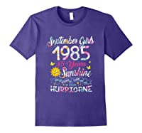 September Girls 1985 35th Years Old Awesome Since 1985 Shirts Purple