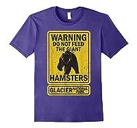 Funny Glacier National Park Grizzly Brown Bear Souvenir Gift Shirts Purple