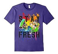Splatoon Pride Stay Fresh Rainbow Paint Splat Shirts Purple