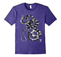 Snake Reptile Boas Herpetology Illustration Shirts Purple