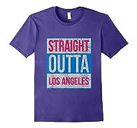 Straight Outta Los Angeles Basketball Shirts Purple