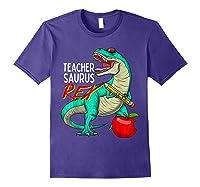 Teasaurus Rex - Funny Dinosaur Tea Appreciation Gift T-shirt Purple