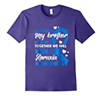 Supporting My Brother Together We Win Apraxia Shirts Purple
