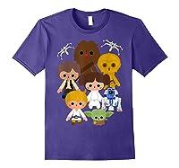 S Cute Kawaii Style Heroes Graphic C1 Shirts Purple