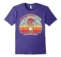 Sloth Hockey Team Shirt. Retro Style T-shirt Purple