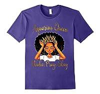 Aquarius Queens Are Born In January 20 February 18 Shirts Purple