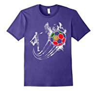 Portugal Soccer Team T-shirt For Fans And Players Purple