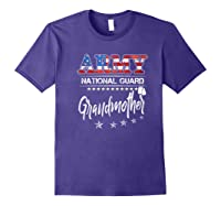 Army National Guard Grandmother Of Hero Military Family Shirts Purple