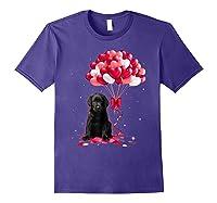 Black Labrador Love Balloons Valentine Day Shirts Purple
