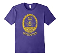 Queen Bee Vintage Beekeeper Mom Mother's Day Wife Gift Shirts Purple
