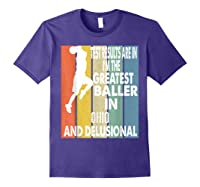 The Greatest Baller In Ohio Basketball Player T-shirt Purple