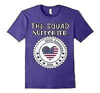 Proud Supporter Of Squad Aoc Pressley Omar Tlaib Shirts Purple