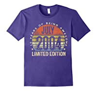 July 2004 Limited Edition 16th Birthday 16 Year Old Gift Shirts Purple