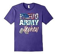 Proud Patriotic Usa Army Nephew Usa Flag Military Shirts Purple