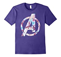 Avengers Logo Floral Super Hero Shirts Purple