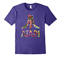 Atari Montage Logo Arms Shirts Purple