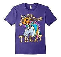 Unicorn Pumpkin Shirts Purple