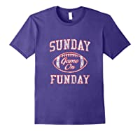 Vintage Sunday Funday T Shirt New England Football Retro Tee Purple