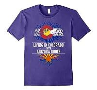 Colorado Home Arizona Roots State Tree Flag Love Gift Shirts Purple
