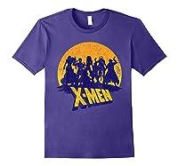 Marvel X- Logo And Mutants Classic T-shirt Purple