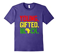Gifted Black History Month African American Gifts Shirts Purple