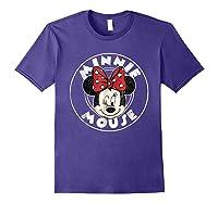 Circle Minnie Shirts Purple
