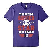 10th Birthday Soccer Birthday Boy Shirts Purple