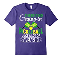 No Crying In Pickleball Gift Pickle Ball Player Pickleball T-shirt Purple