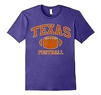 Texas Football - Tx Vintage Varsity Style T-shirt Purple