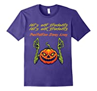 Funny Let's Eat Students Punctuation Saves Lives Tea Shirts Purple