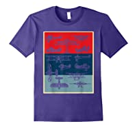 Aneisha Vintage Airplane Gift For Pilot Aviation Students Shirts Purple