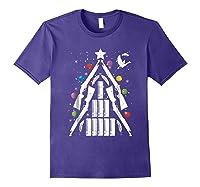 Shotgun Christmas Tree For Duck Hunters Shirts Purple