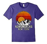 Adirondacks Retro Mountain Sunset Shirts Purple