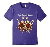 Flying Spaghetti Monster Pastafarian Vintage Shirts Purple