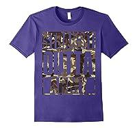 Straight Outta Army Veteran American Military Pride Gift Shirts Purple