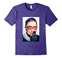 I Dissent - Rbg - Ruth Bader Ginsburg Tank Top Shirts Purple